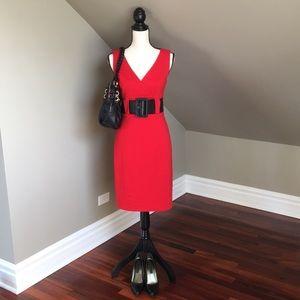 Kay Unger Knee length belted dress